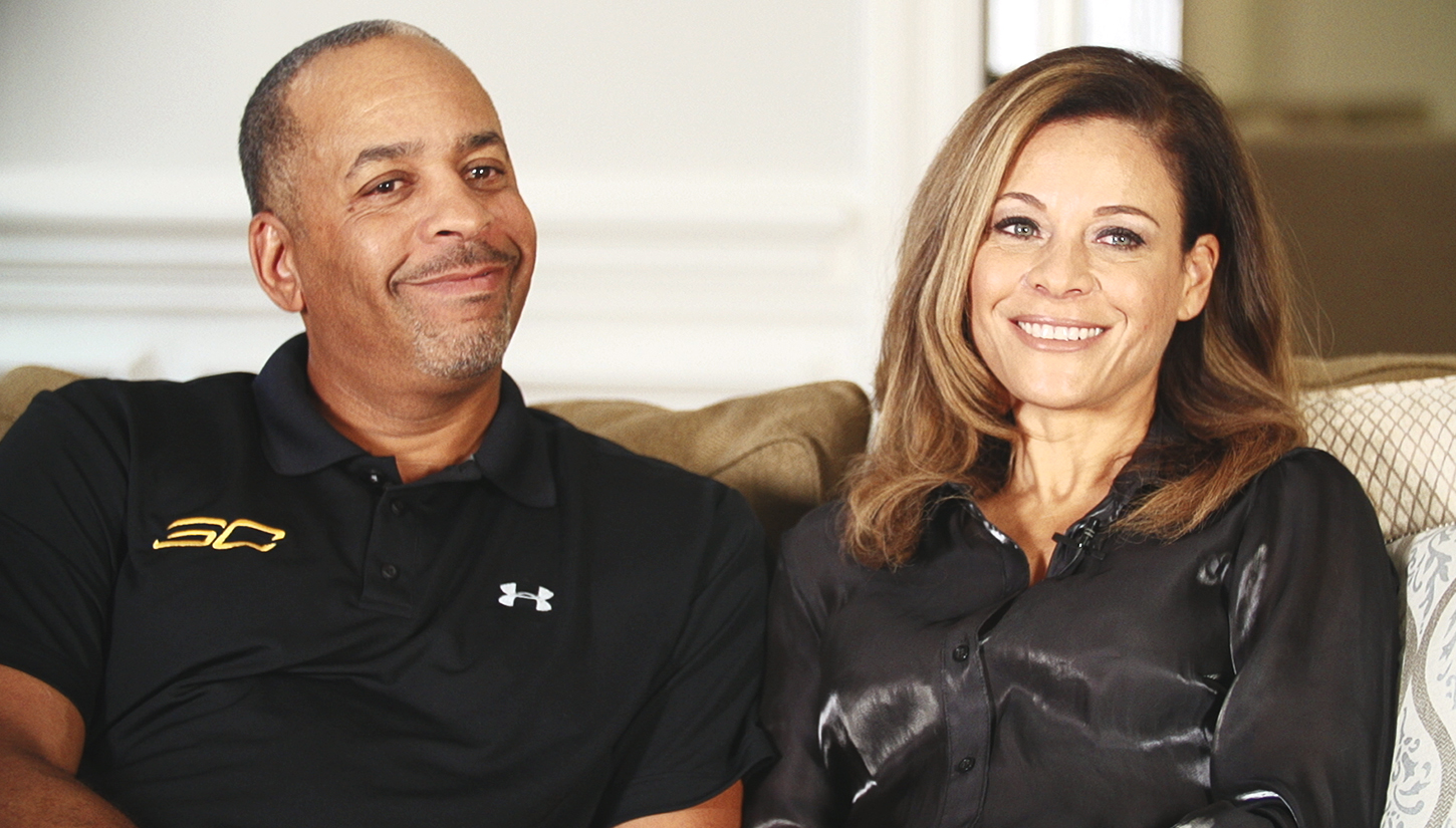 Happily married husband and wife: Dell Curry and Sonya Curry