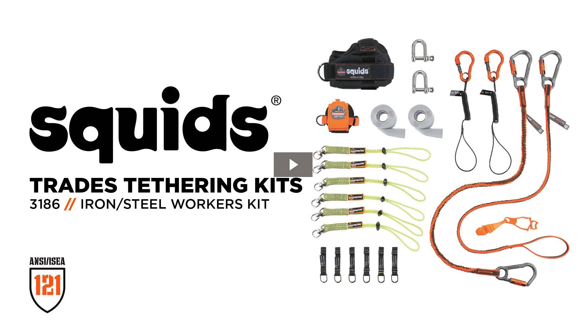 Ergodyne Product Video - Squids<sup>®</sup> 3186 Iron/Steel Worker's Tool Tethering Kit