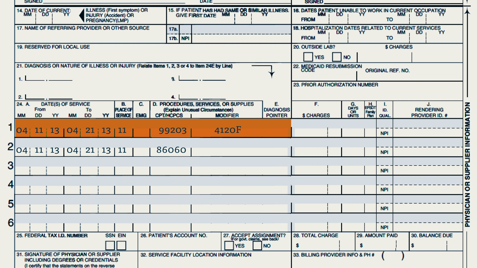 Medical billing and coding information for a research paper