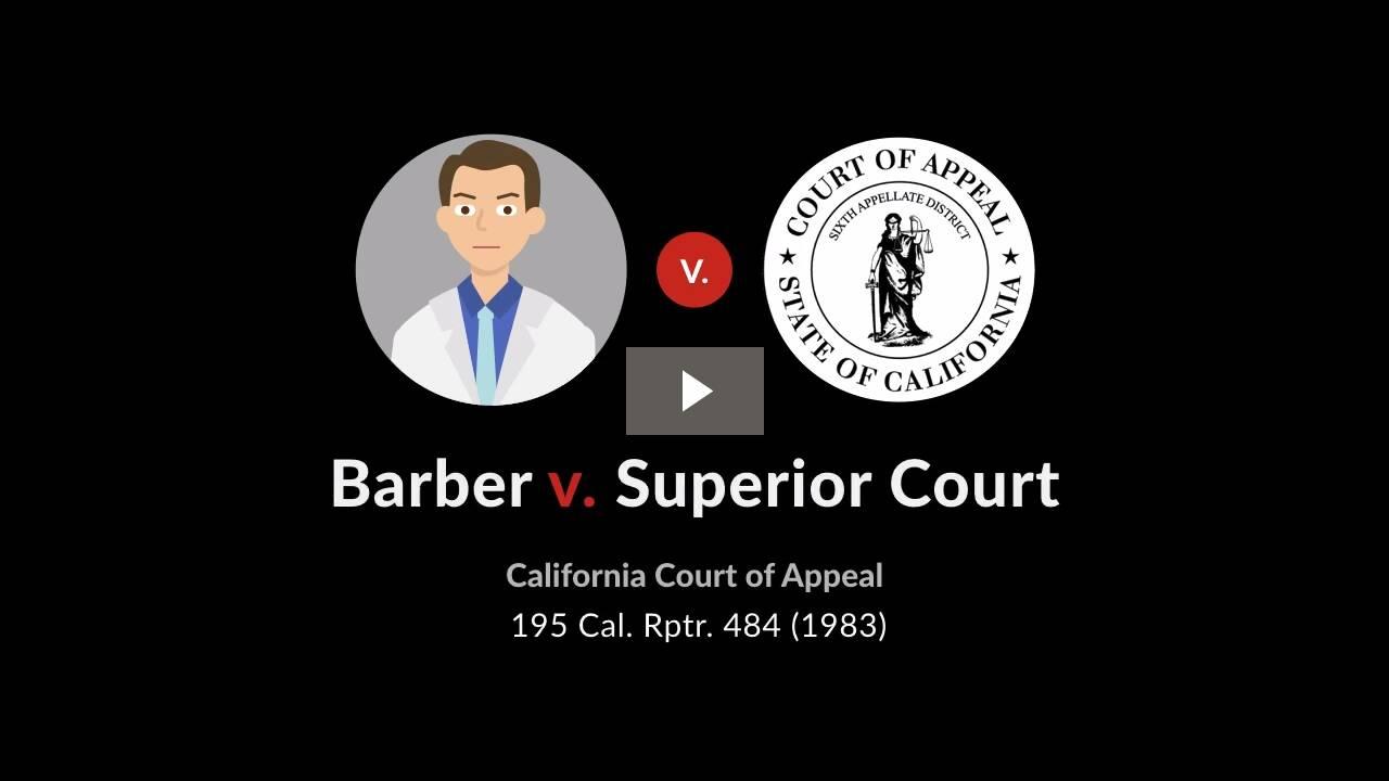 Barber v. Superior Court