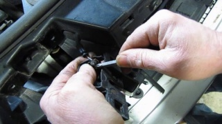 Replacing The Hood Latch (With Electronic Alarm Assembly) On Land Rover Vehicles
