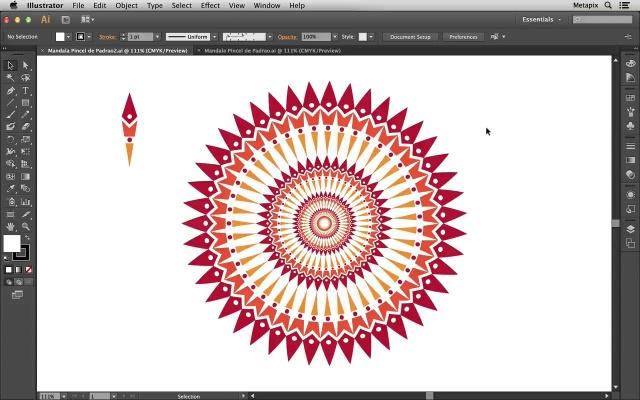 Mandala com Pincél de Padrão customizado