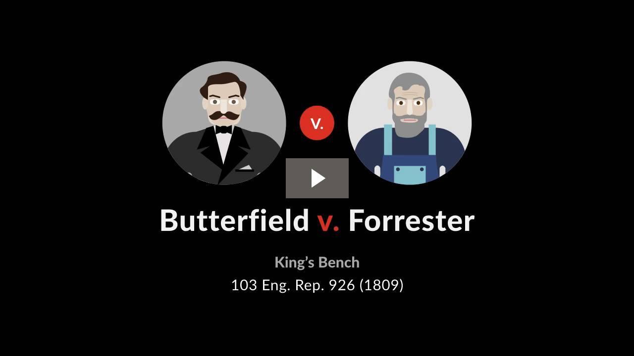 Butterfield v. Forrester