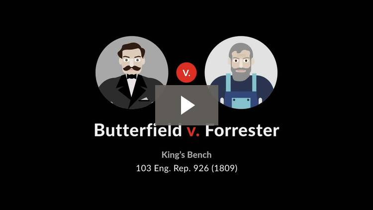 Butterfield v. Forrester