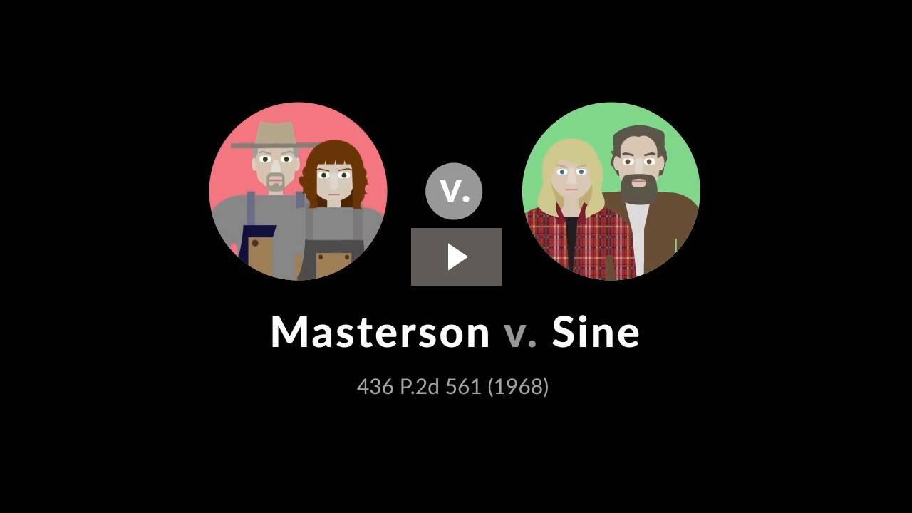 Masterson v. Sine