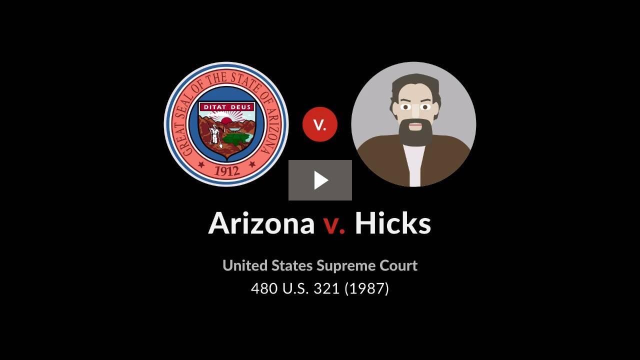 Arizona v. Hicks