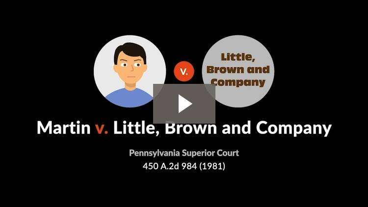 Martin v. Little, Brown & Co.