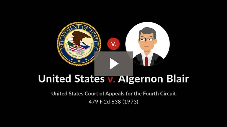 United States v. Algernon Blair, Inc.