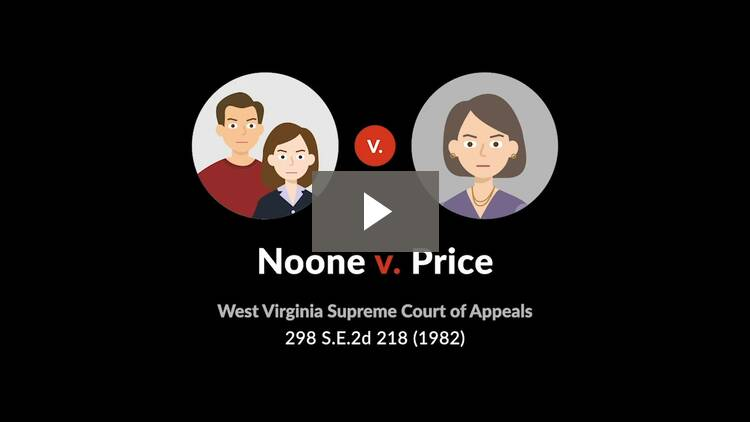 Noone v. Price