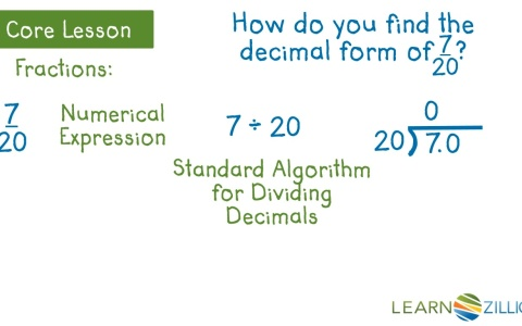 Convert Fractions And Mixed Numbers To Decimals Learnzillion