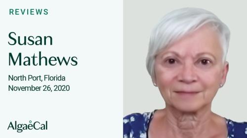 Testimonial thumbnail portrait of Susan Mathews