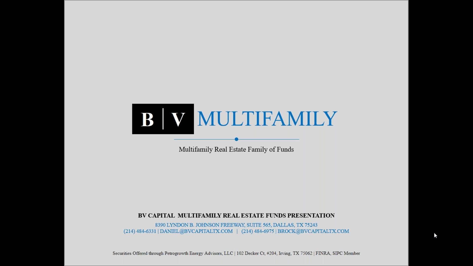 Investment Video - BV Capital Multifamily Fund I
