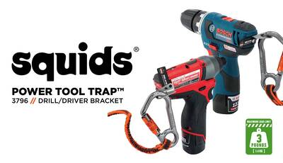 How to Safely Tether Your Drill or Impact Driver Using Squids® Power Tool Brackets