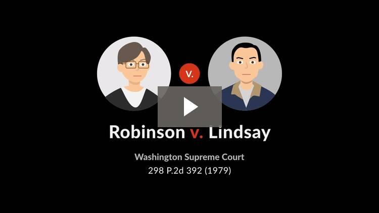 Robinson v. Lindsay