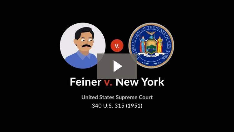 Feiner v. New York