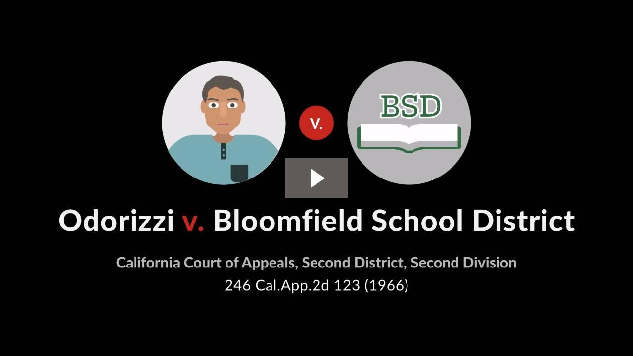 Odorizzi v. Bloomfield School District