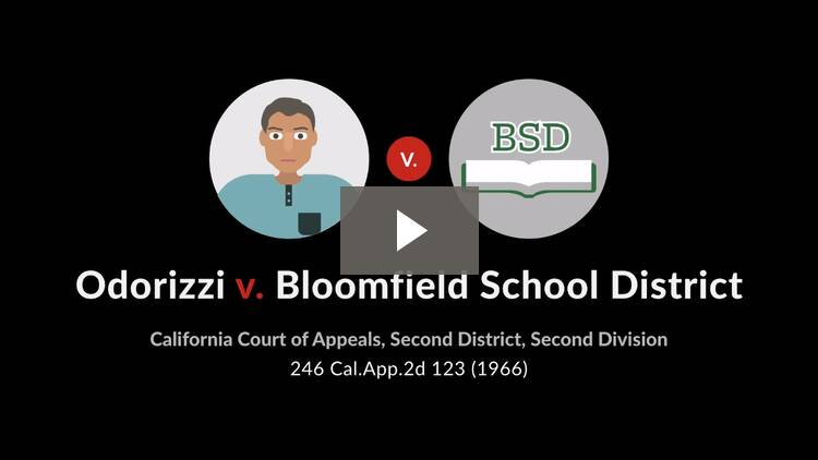 Odorizzi v. Bloomfield School District