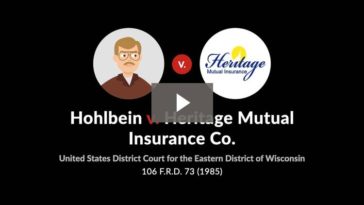 Hohlbein v. Heritage Mutual Insurance Co.