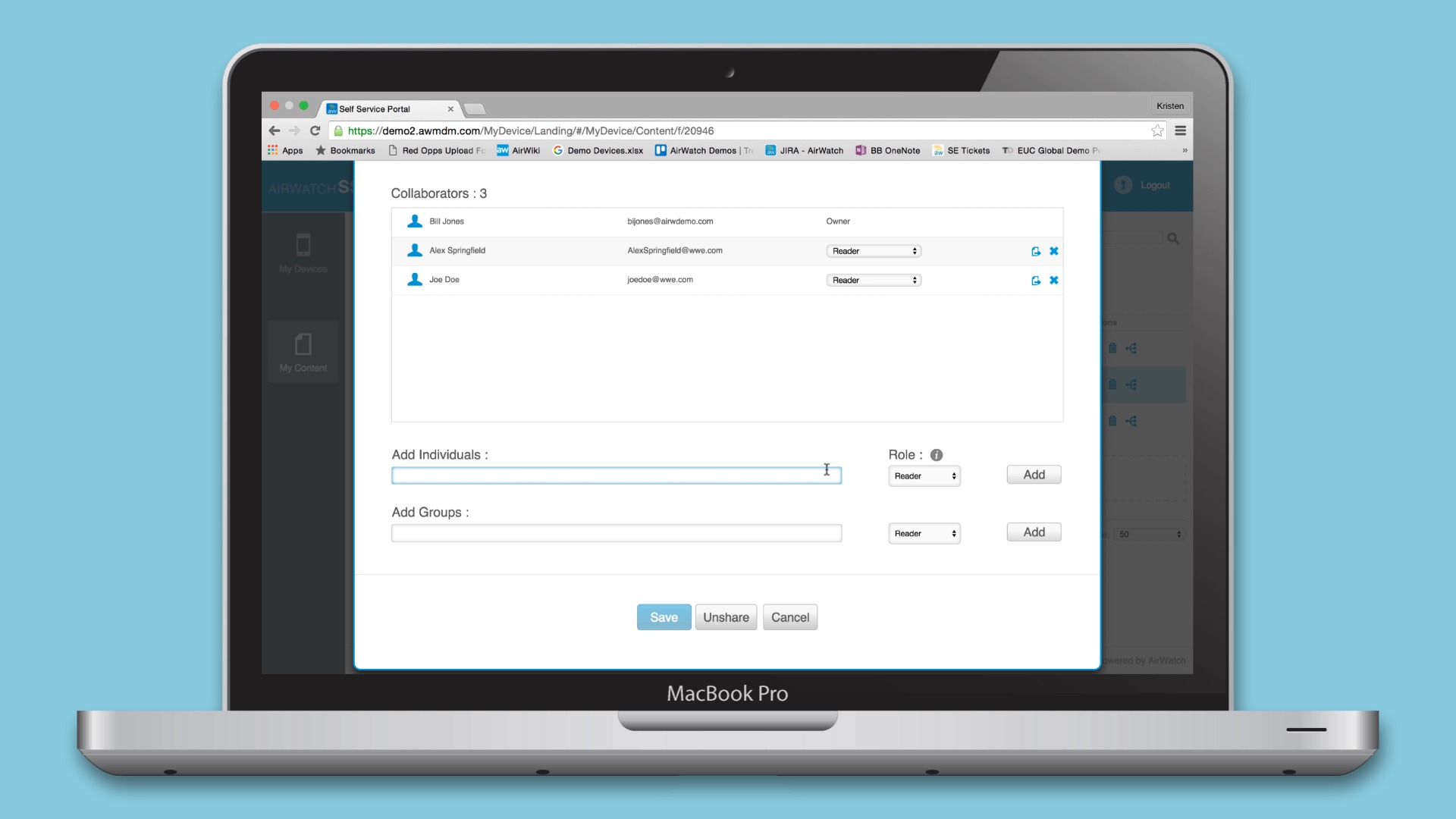 AirWatch's Mobile Content Management (MCM)