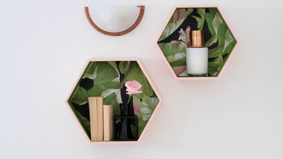 Habitat TV Video: Go pretty with DIY floating shelves