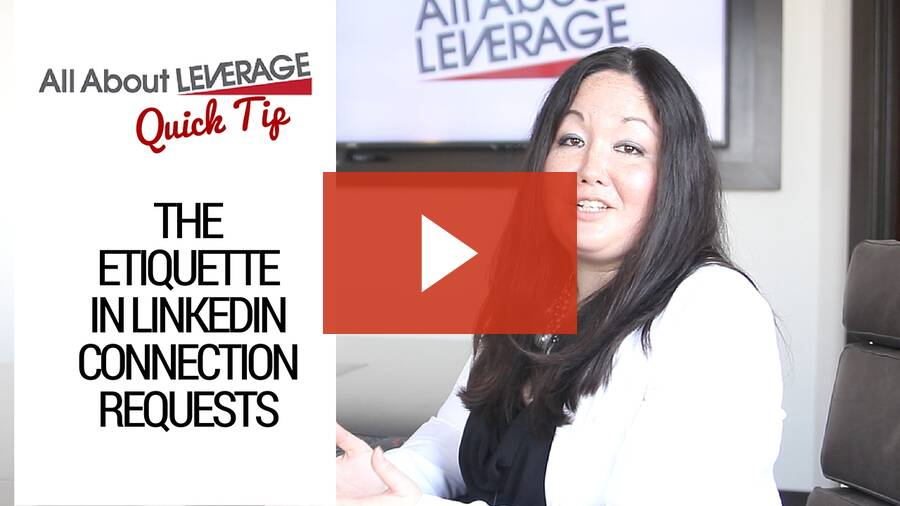 The Etiquette in LinkedIn Connection Requests