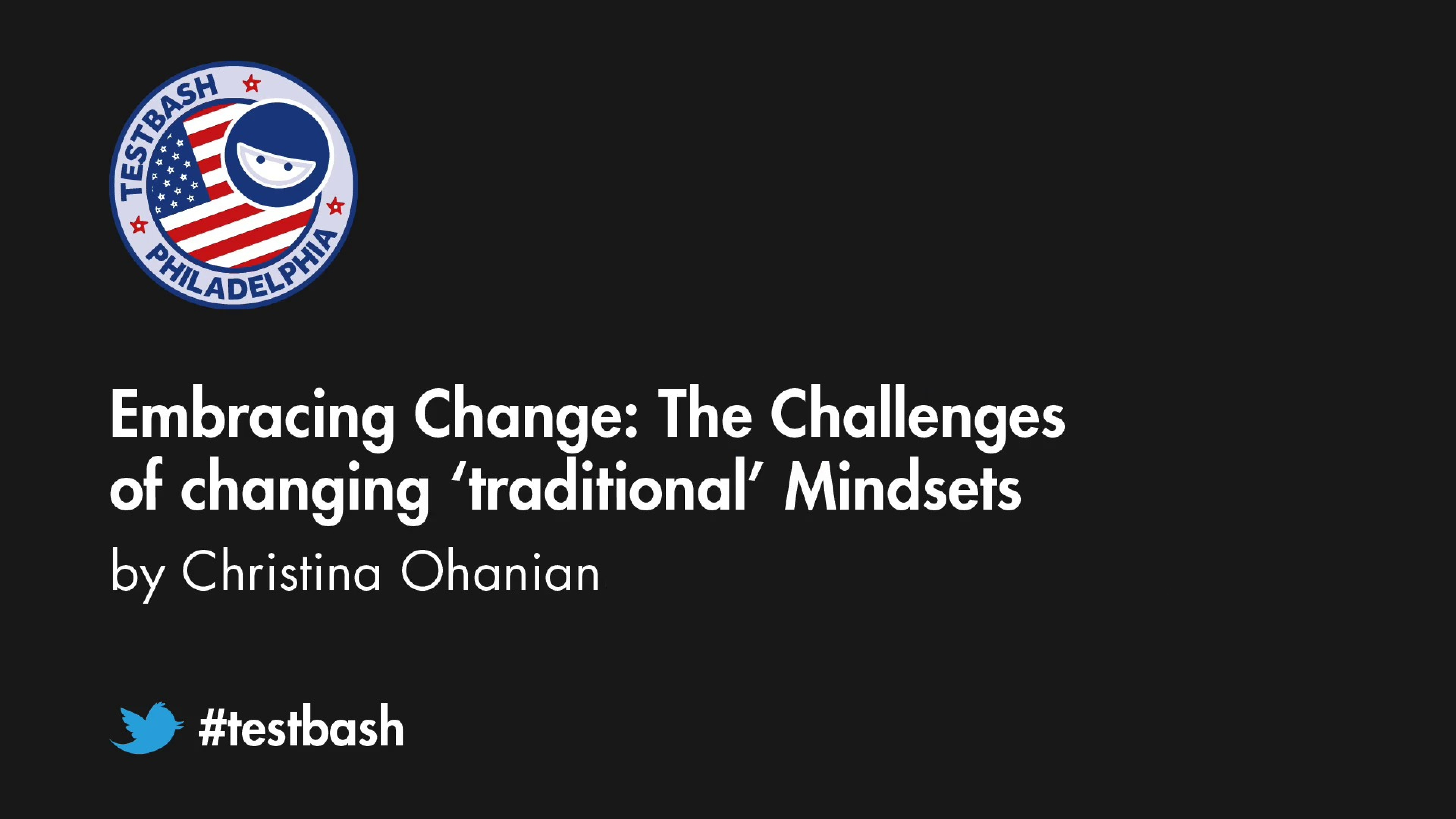 Embracing Change: The challenges of changing 'traditional' mindsets – Christina Ohanian