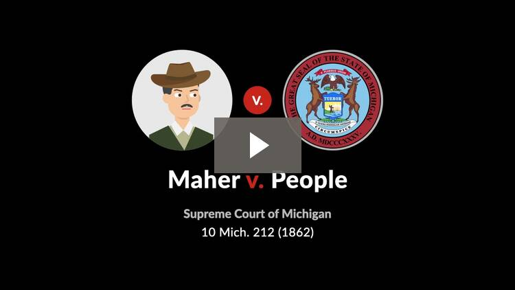 Maher v. People