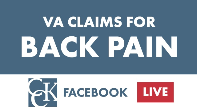 VA Disability for Back Pain