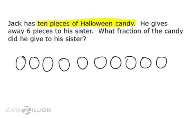 Solve Fraction Word Problems Using Key Words And Pictures