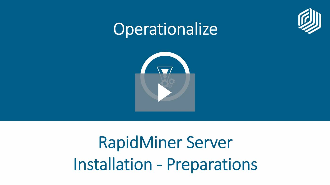 RapidMiner Server Installation - Preparations