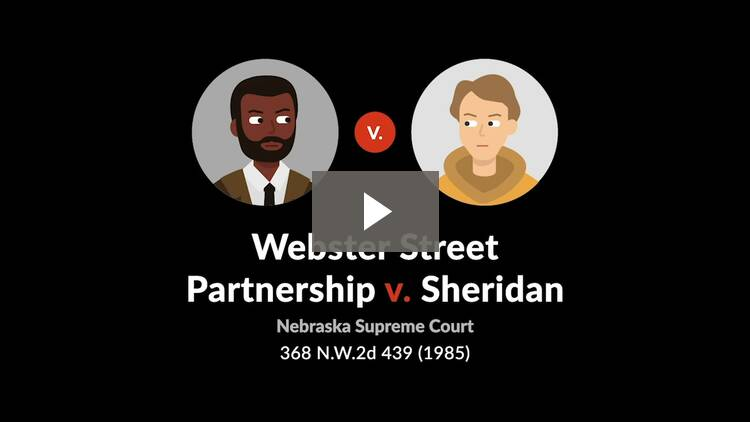 Webster Street Partnership, Ltd. v. Sheridan