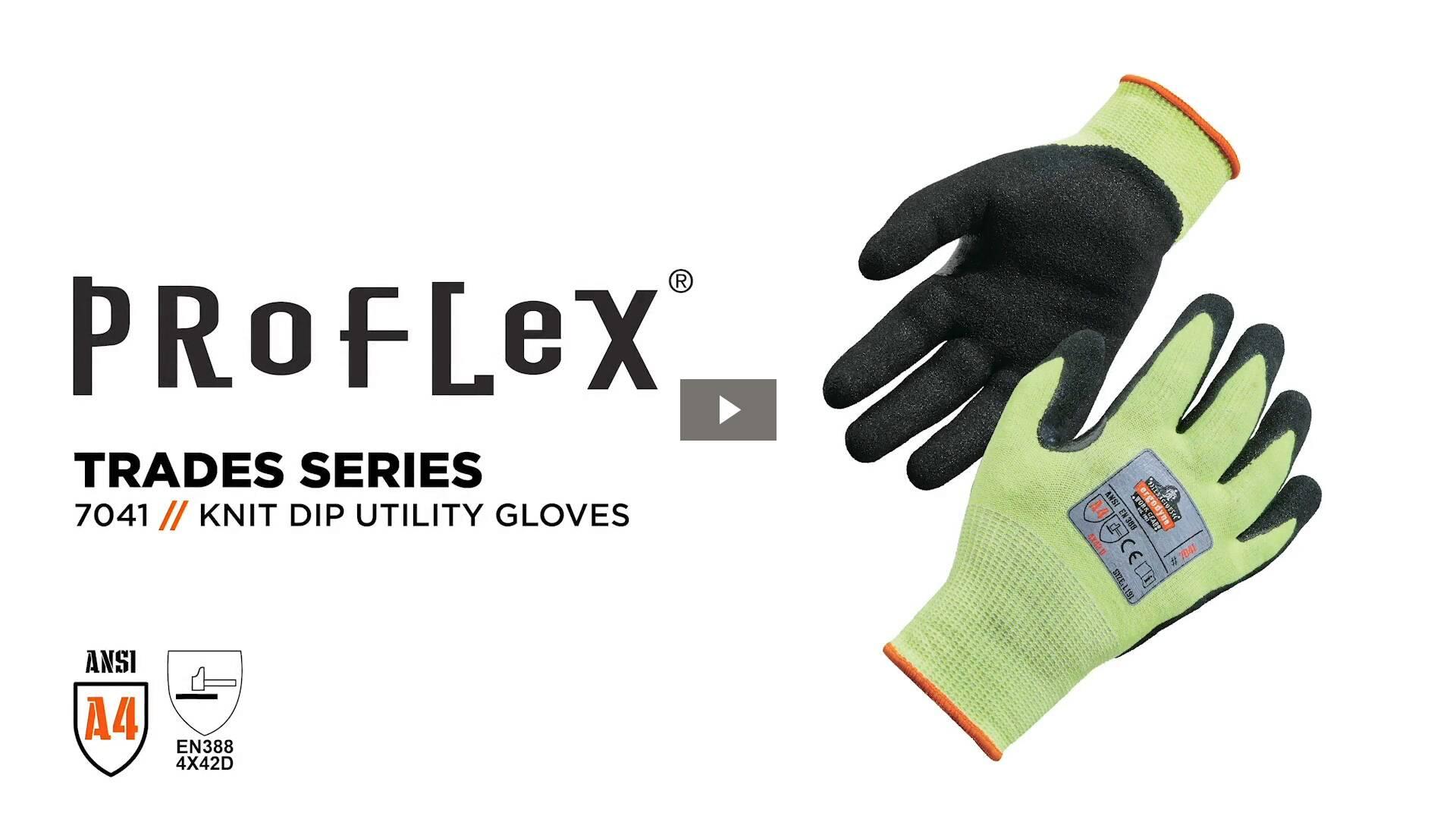 Ergodyne Product Video - ProFlex<sup>®</sup> 7041 Hi-Vis Nitrile-Coated Level 4 Cut-Resistant Gloves