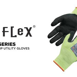 Ergodyne Product Video - ProFlex<sup>®</sup> 7041 Hi-Vis Nitrile-Coated Cut-Resistant Gloves - ANSI A4 Level, WSX™ Wet Grip