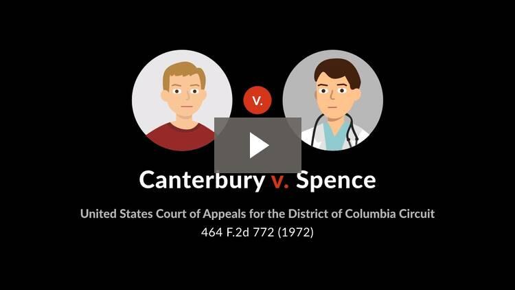 Canterbury v. Spence