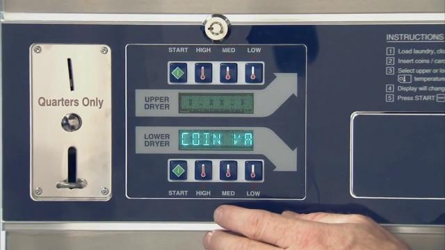 为 Dexter C 系列叠加式 干衣机控制器设置程序。