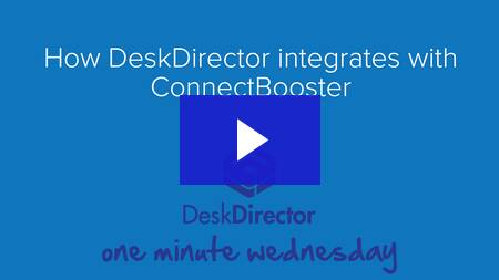 How DeskDirector integrates with ConnectBooster