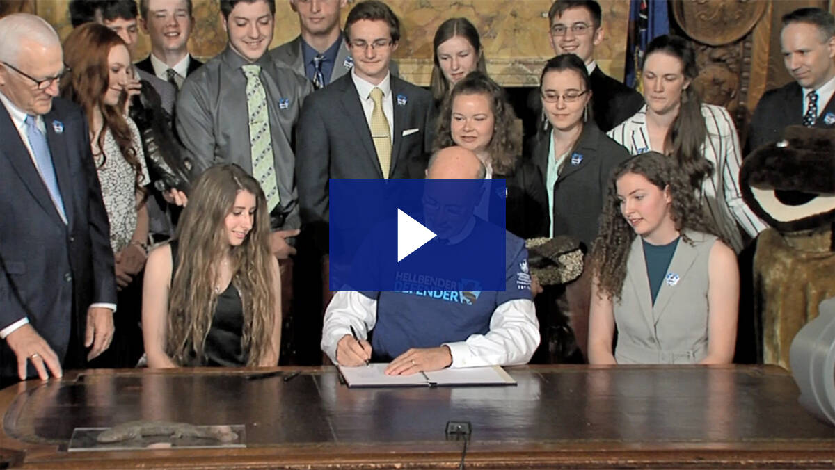 4/23/19 – Hellbender Bill Signing Ceremony (Senate Bill 9)