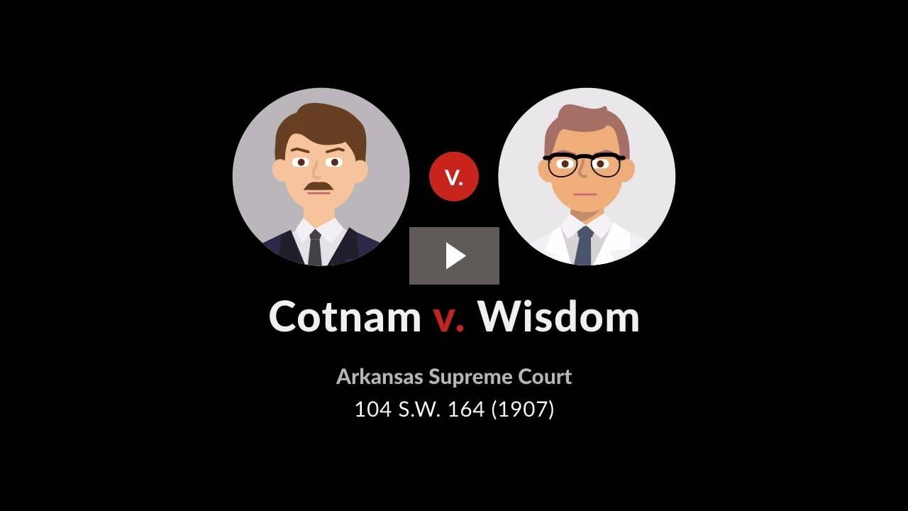 Cotnam v. Wisdom