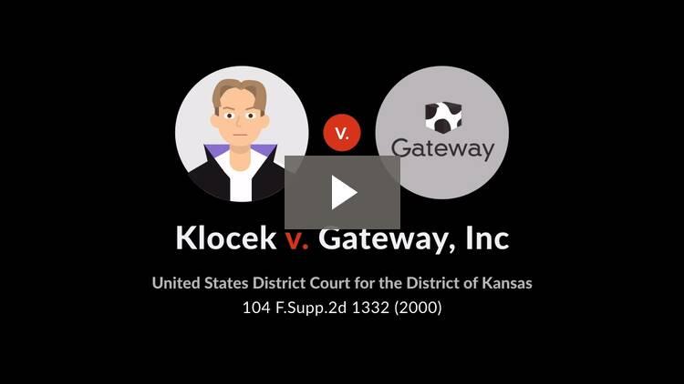 Klocek v. Gateway