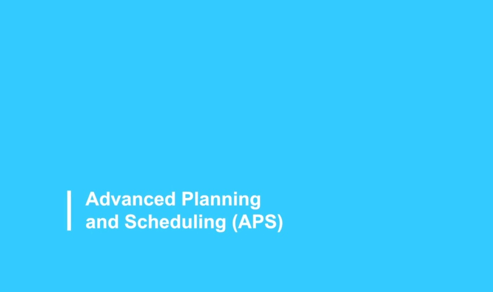Advanced Planning and Scheduling 2021