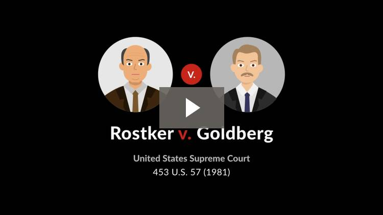 Rostker v. Goldberg