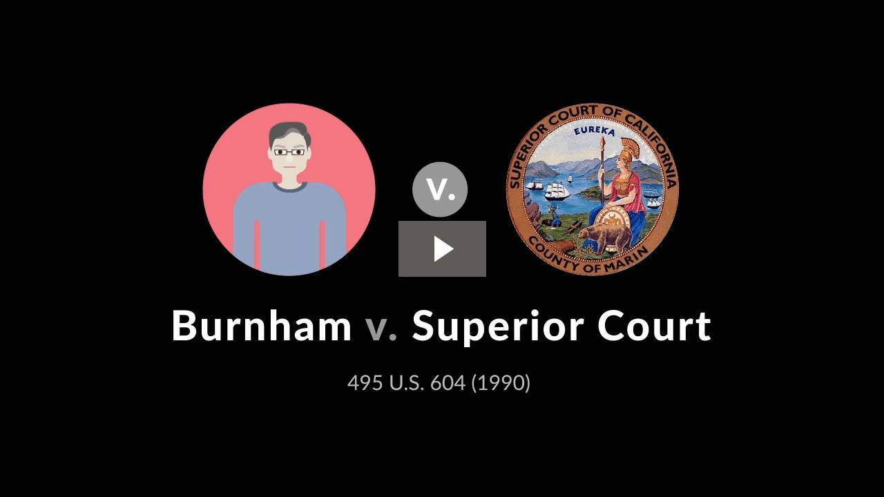 Burnham v. Superior Court