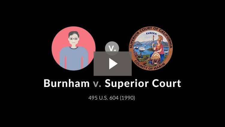 Burnham v. Superior Court