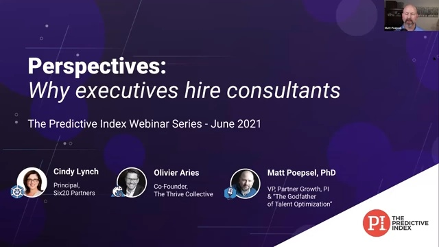 Perspective- Why execs hire consultants