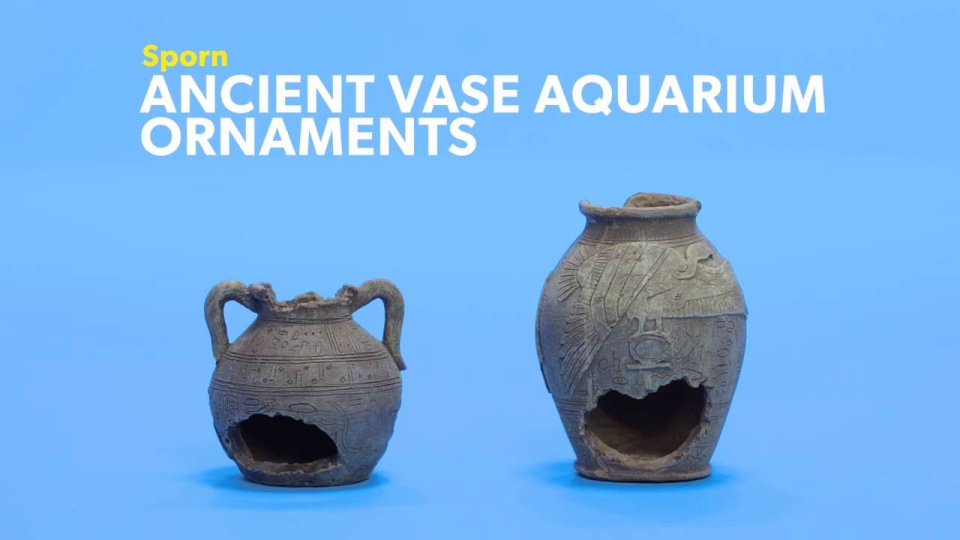 Sporn Ancient Vase 2 Aquarium Ornament Chewy
