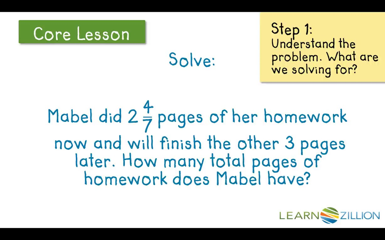 math worksheet : lesson 11 add and subtract fractions in word problems  ready  : Mixed Number Word Problems