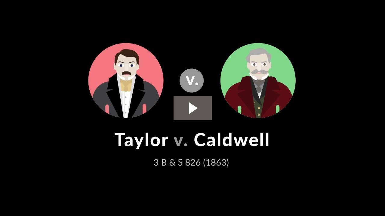 Taylor v. Caldwell