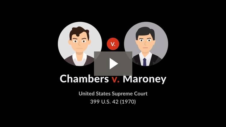 Chambers v. Maroney