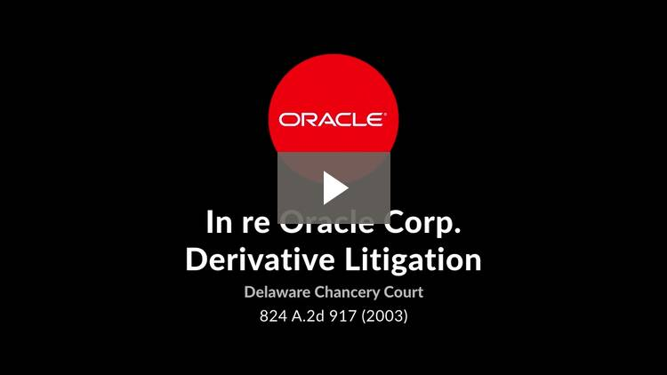 In re Oracle Corp. Derivative Litigation