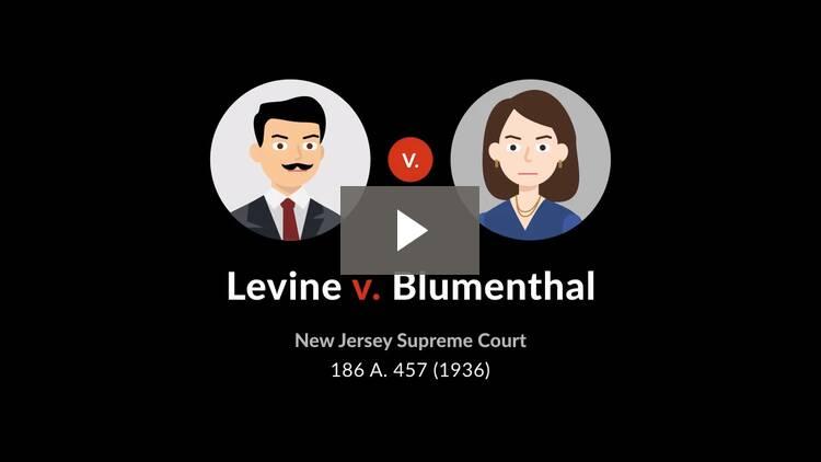 Levine v. Blumenthal